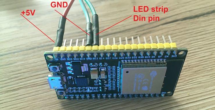 Internet Controlled LED Strip Using ESP32 + Arduino - Hackster io
