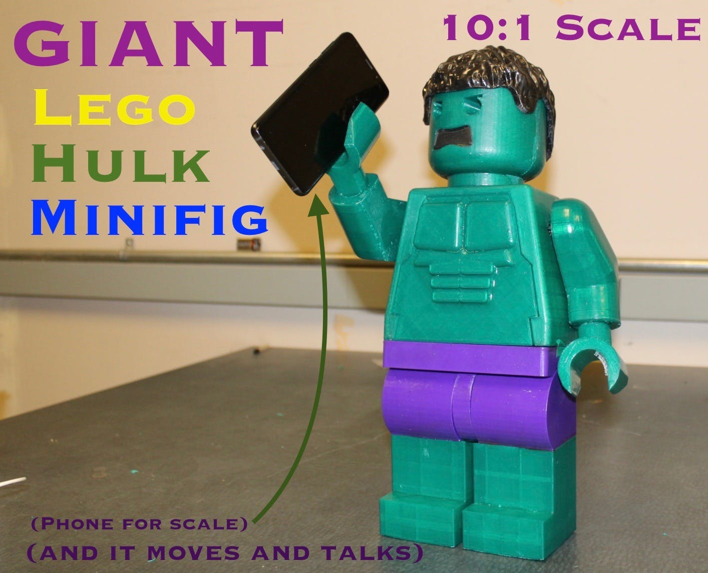 Giant Lego Hulk Minifig (10:1 Scale) with a Twist
