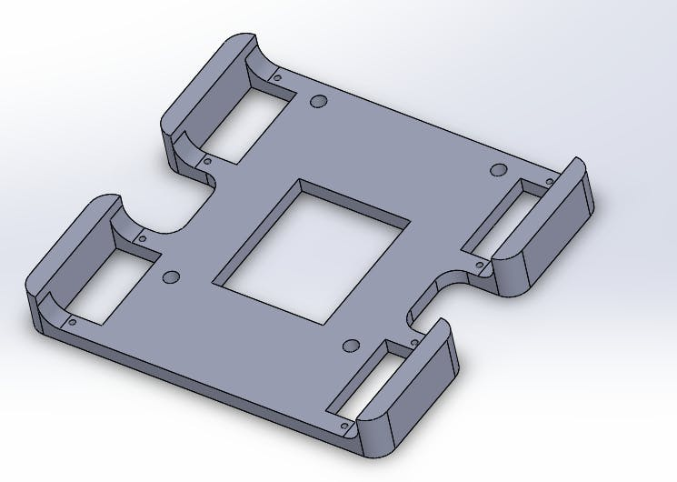 Figure 2 : Redesigned central plate
