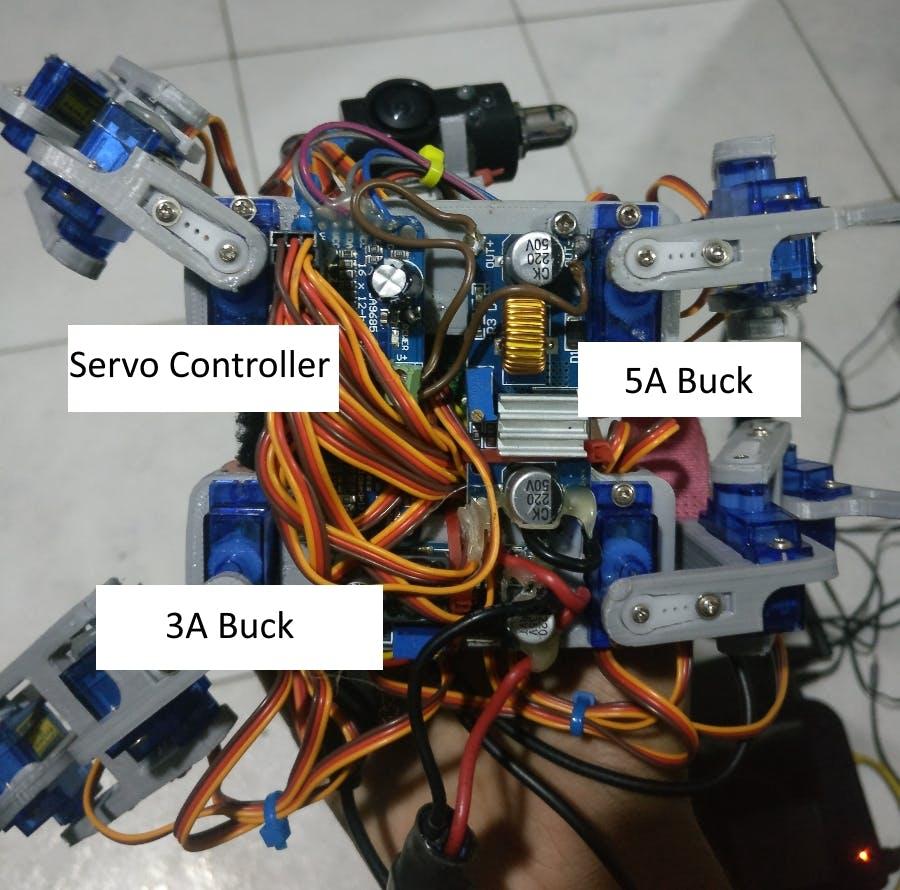 Figure 3 : Robot underside
