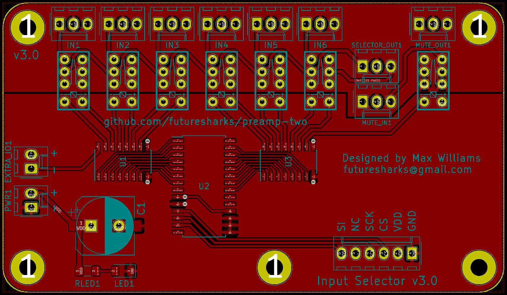 Input selector pcb front gjqdepydgc