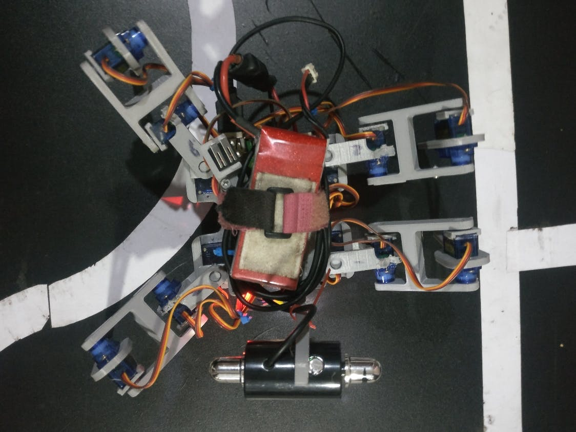Figure 1 : Quadruped robot - A webcam is fixed at the front