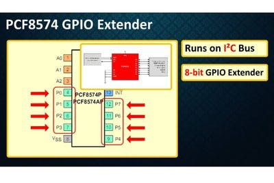PCF8574 GPIO Extender - With Arduino and NodeMCU - Hackster io