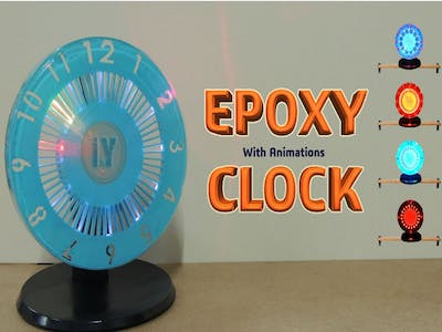 Epoxy Resin LED Clock