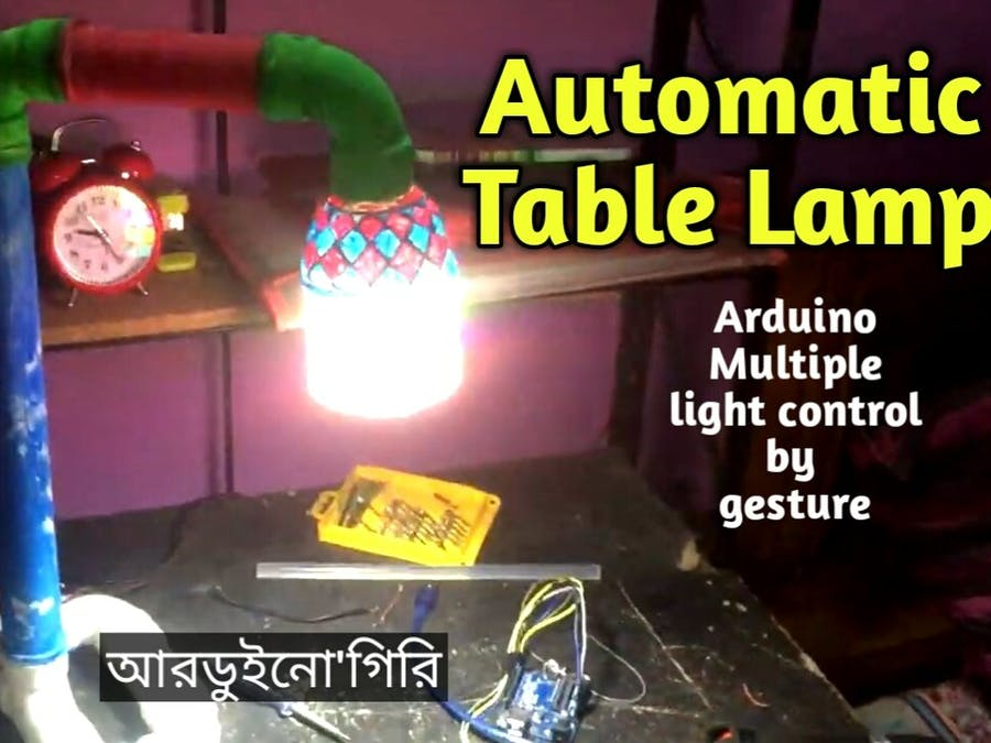 Automatic Gesture Controlled Table Lamp for Study