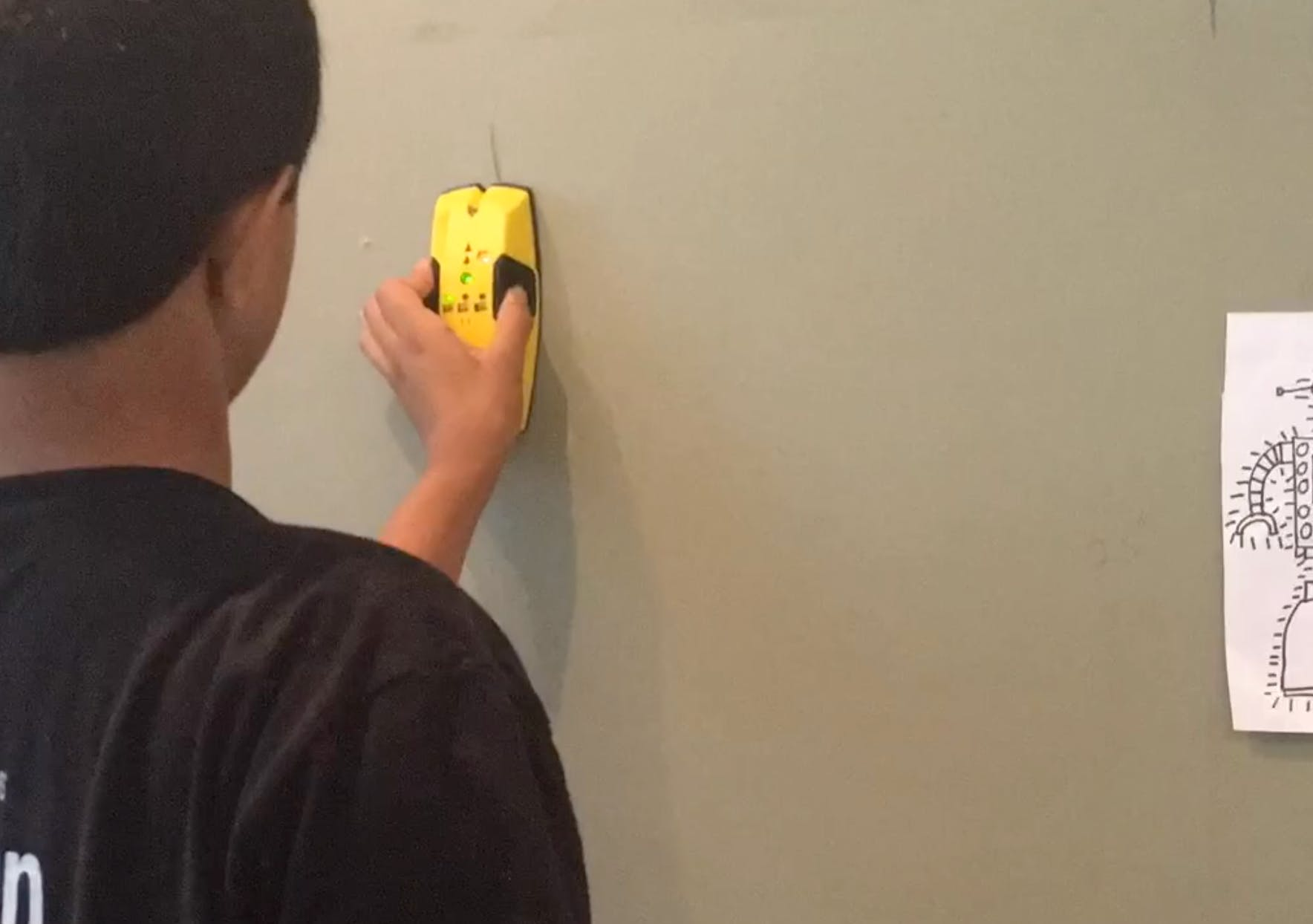 using a stud finder