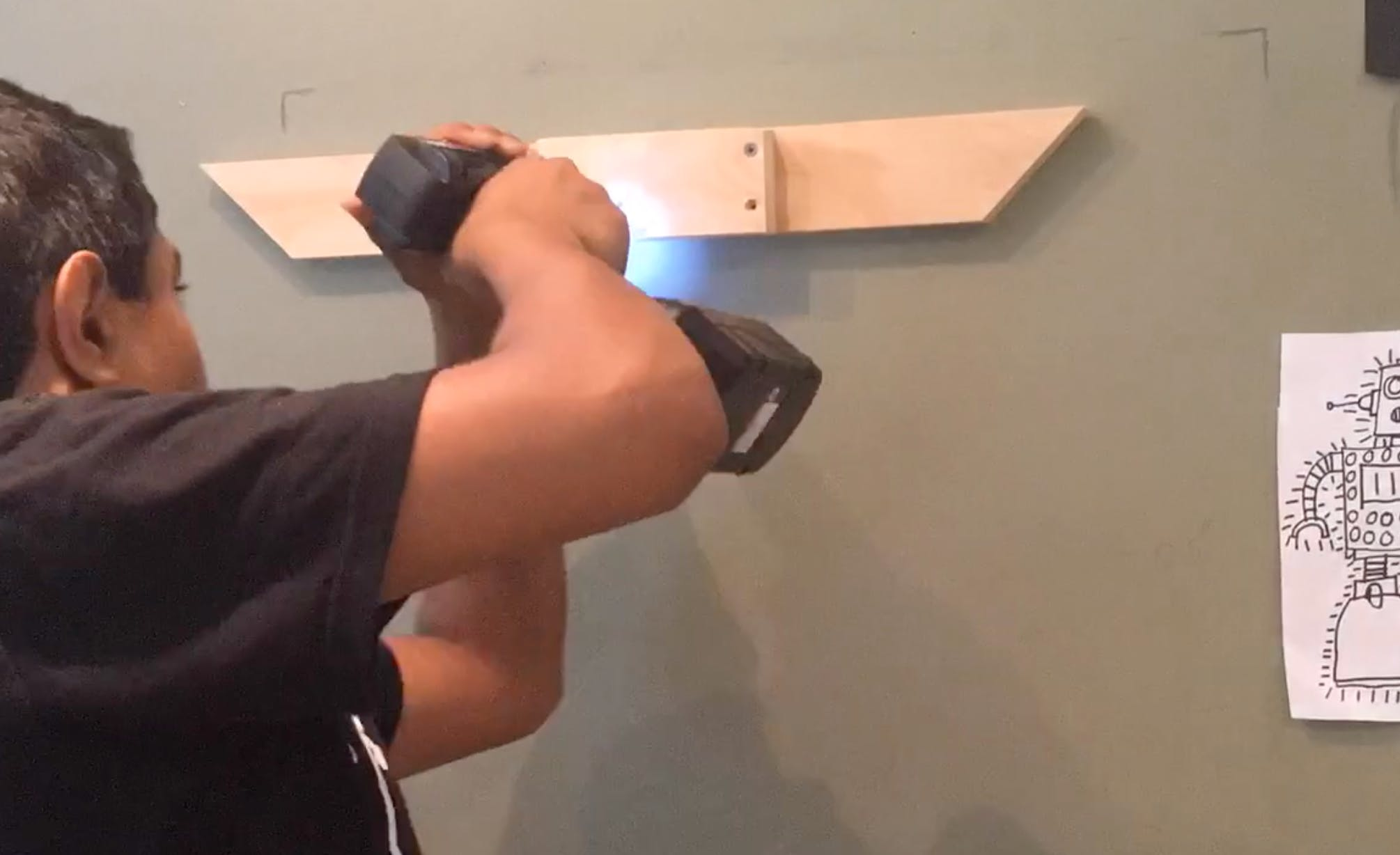 mounting the cleat on the wall
