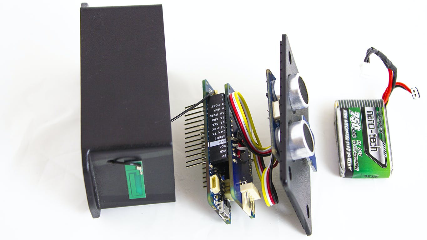 All the components connected together