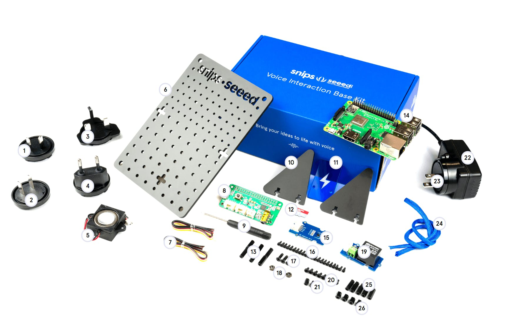Snips Voice Interaction Development Kit (Base Kit)
