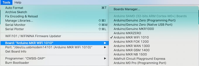Securely Connecting an Arduino MKR WiFi 1010 to AWS IoT Core