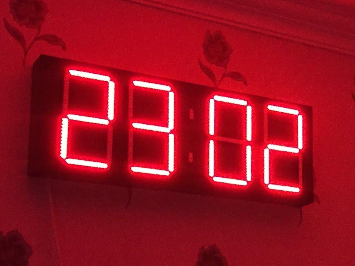 Digital Wall Clock