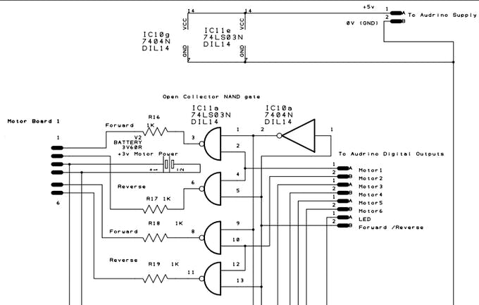 One board diagram and connection lines to other part of the boards