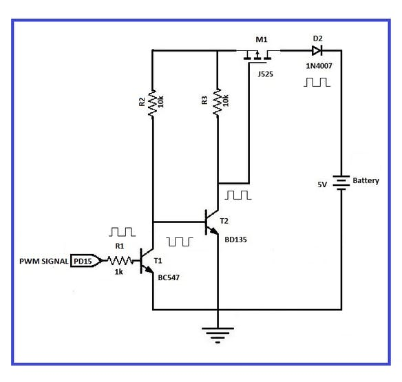 Circuit diagram of the charge control