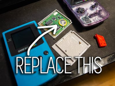 Gameboy Cartridge Battery Replacement