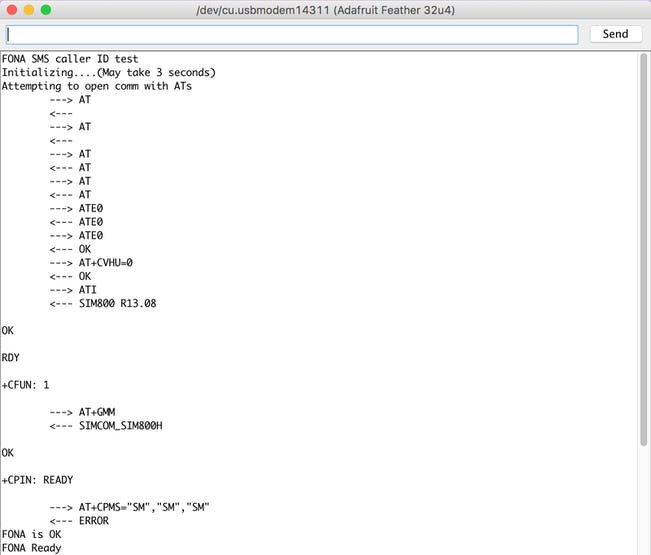 Adafruit Feather 32u4 FONA M2M Commands Quickstart - Hackster io