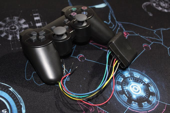 PS2X wireless controller with receiver