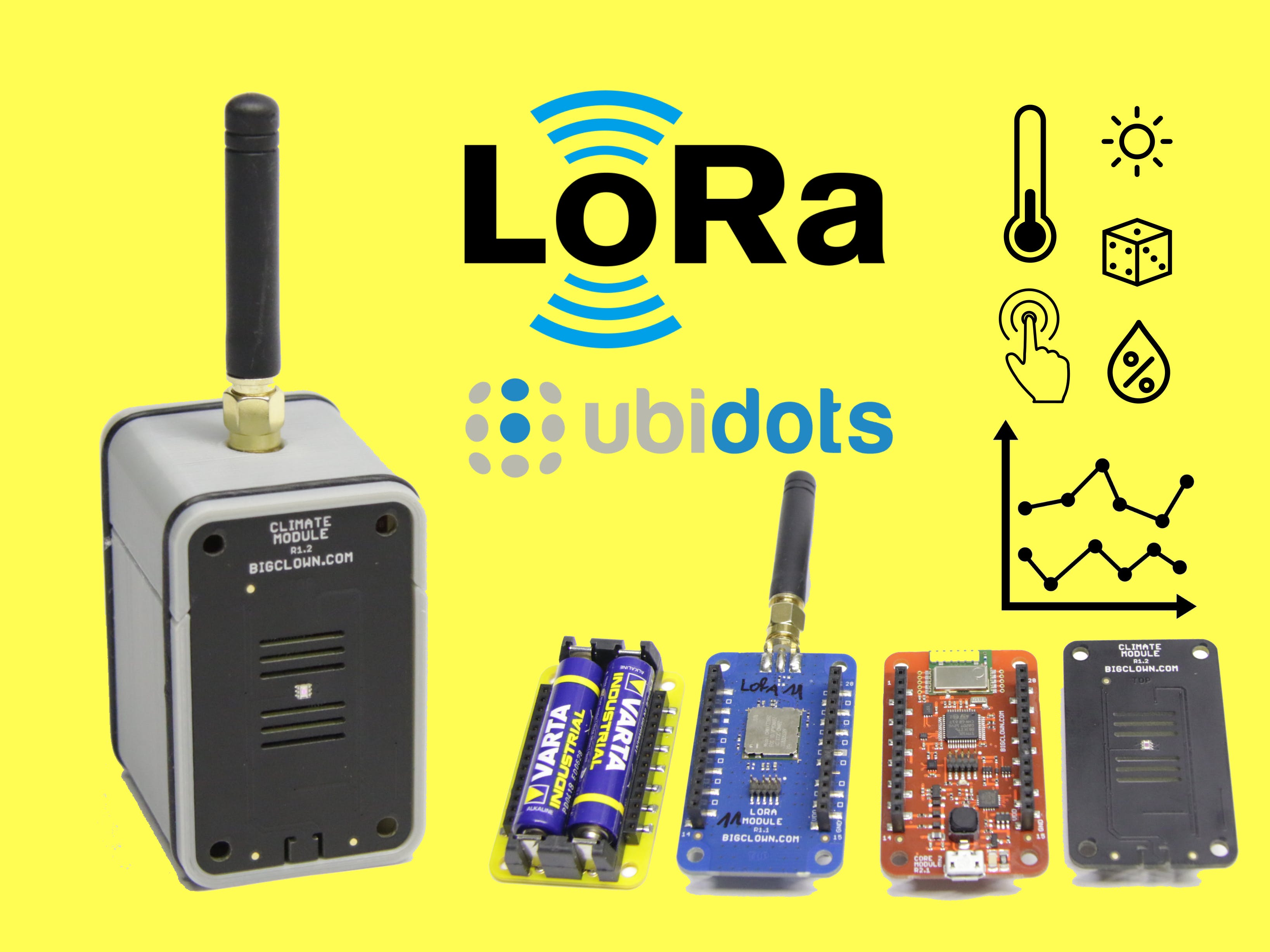 LoRa Climate Monitor: Easy, Open, Low-Power and with Graphs