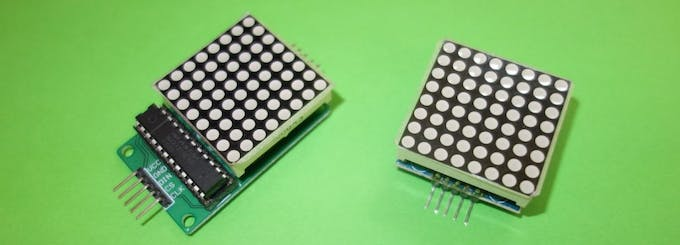 8x8 LED matrix with MAX7219 driver IC in different versions