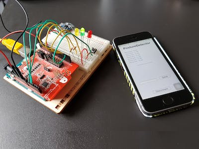 A Posture Detector Sending Bluetooth Data to a Cordova App
