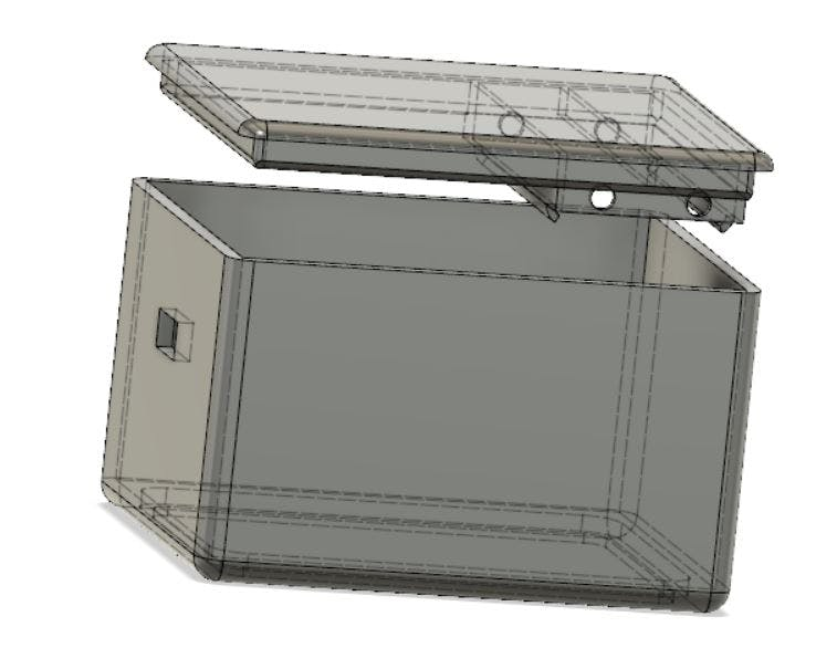 Both case parts designed with Autodesk Fusion 360