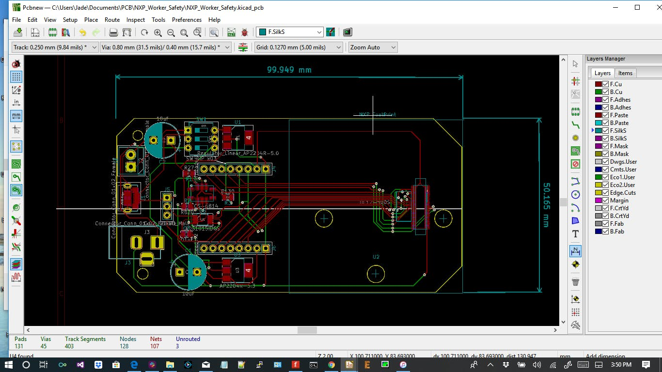 Designed by Kicad