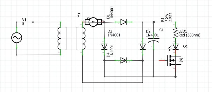 MOSFET driving AC Load analogy