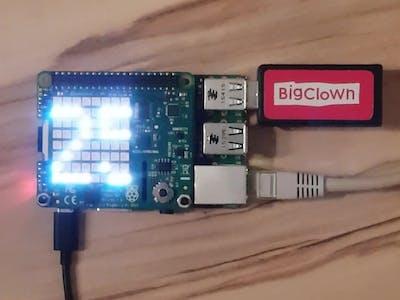 Show BigClown Sensor Data at Raspberry Pi Sense HAT