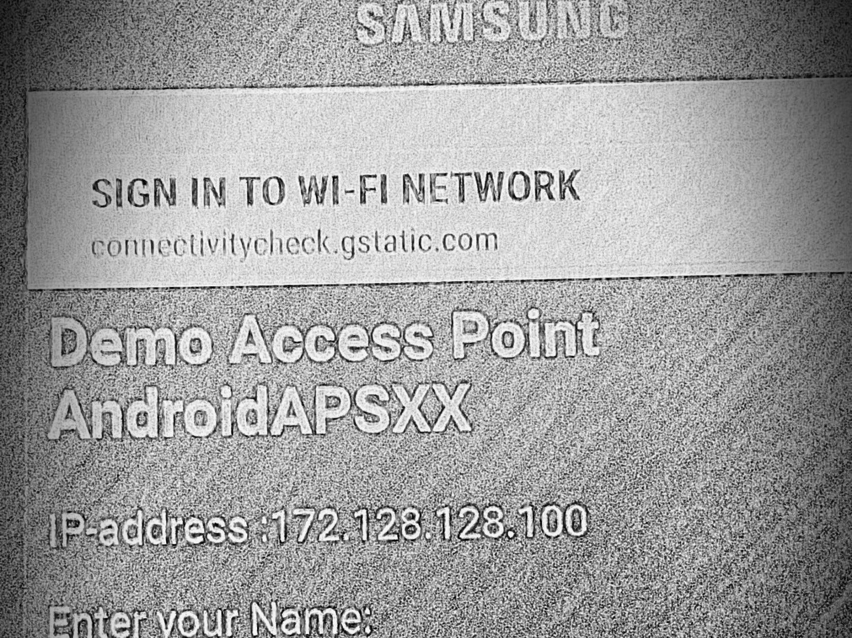 Captive Portal for WiFi AP