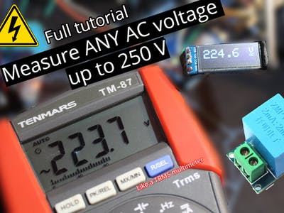 Measure Any AC Voltage Up to 250V