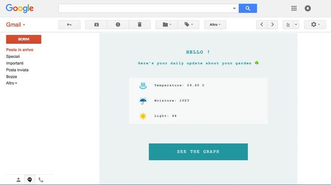 stylized email body