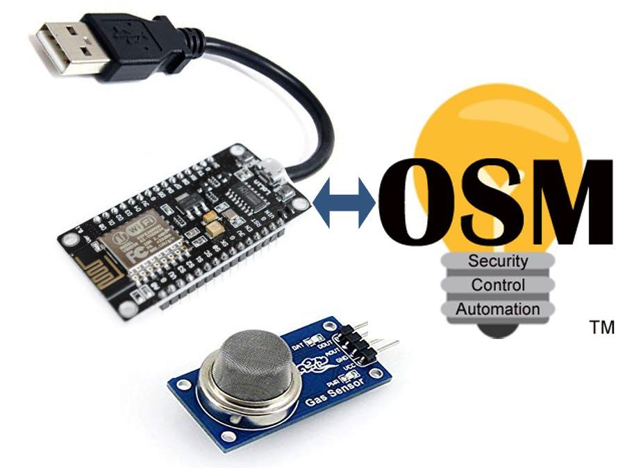 Send SMS Text Messages when MQ135 Air Sensor Exceeds Limit