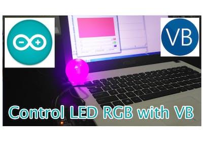 Control LED RGB via Visual Basic