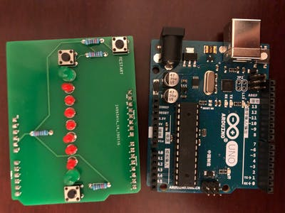 "Arduino Controlled LED Multi-Player Game on Arduino ""Shield"""