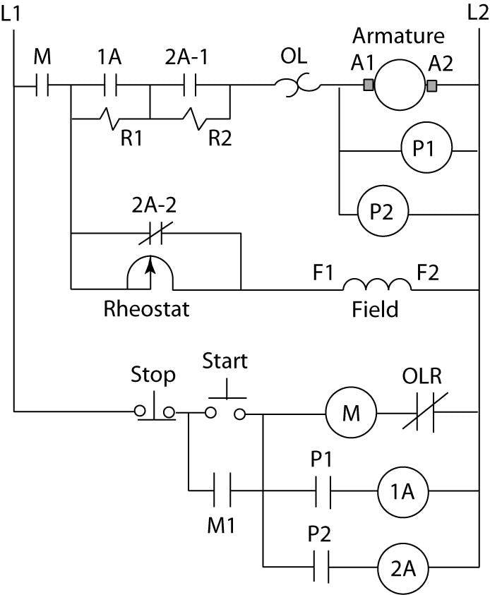 High Power Dc Motor Starter With Overload Protection