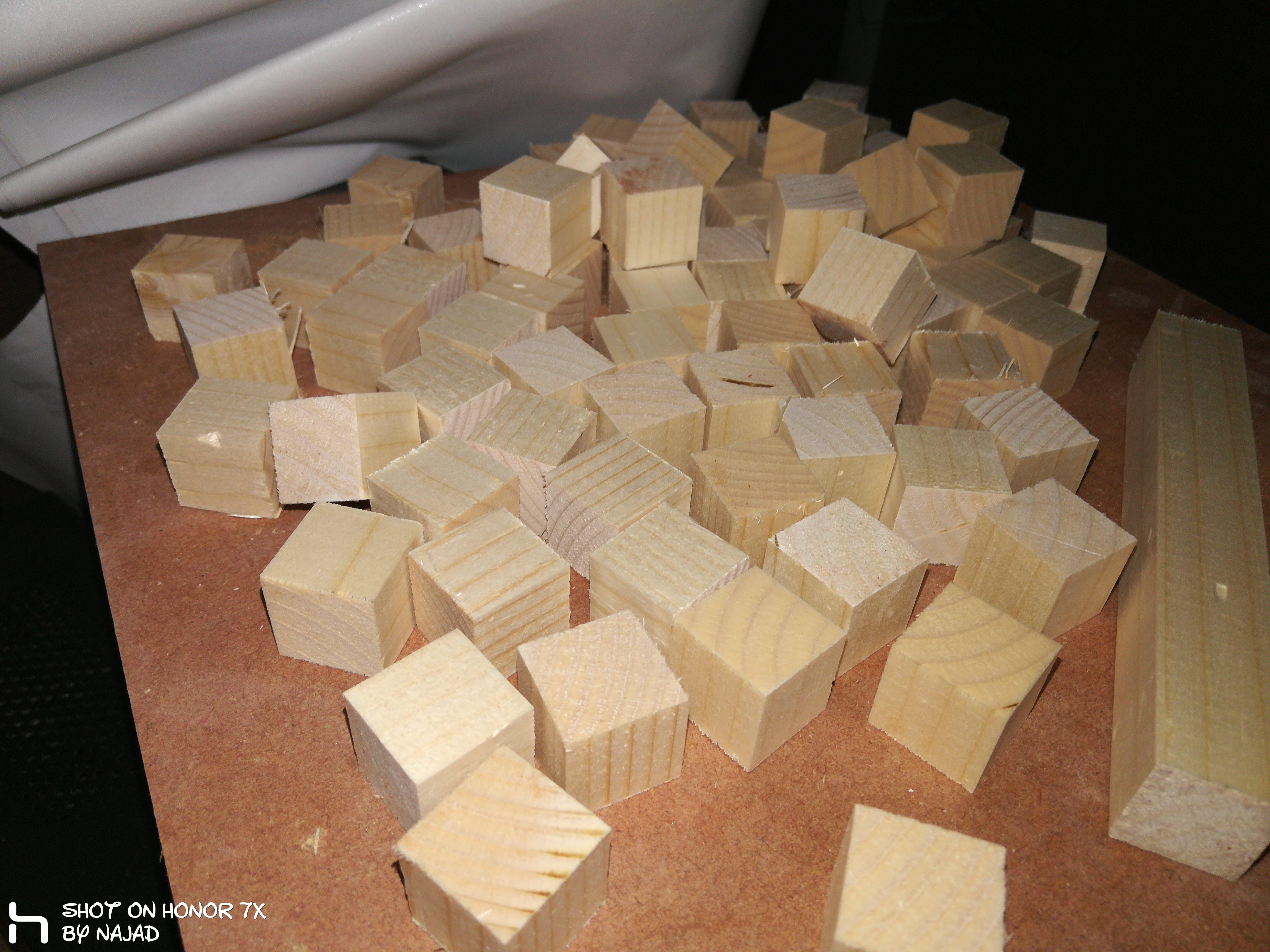 soft wood cubes