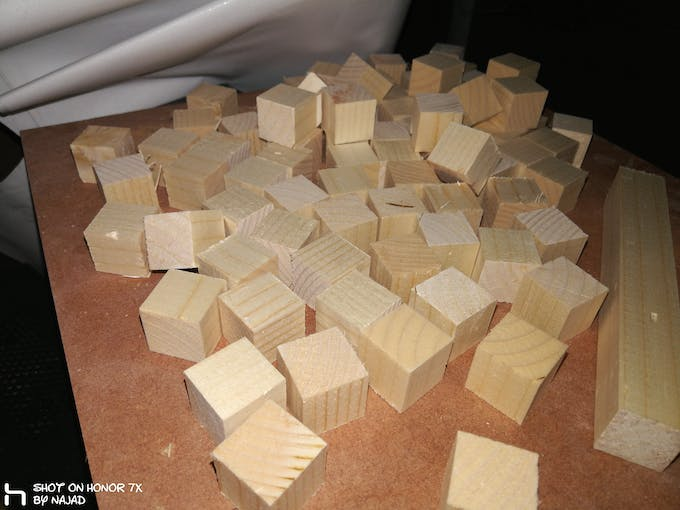 soft wood cubes