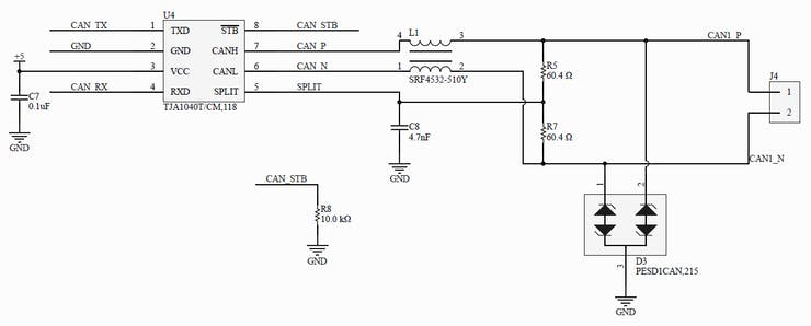 Fig. 6 - CAN Transceiver.