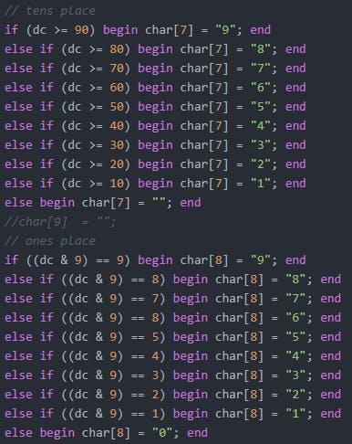 Verilog code to store a reg as ASCII text