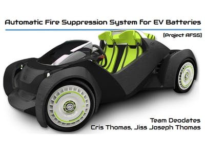 Automatic Fire Suppression System for EV Batteries