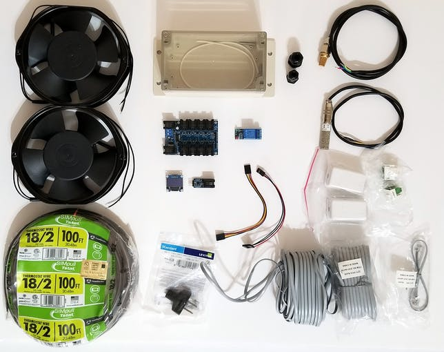 Parts needed to build the Ventilation System