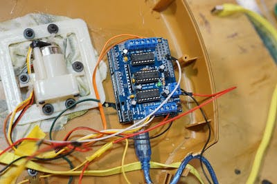 Motor shield connections