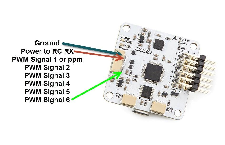 Cc3d Rx Diagram - Wiring Diagram Verified Naze Rev Flight Controller Wiring Diagram on