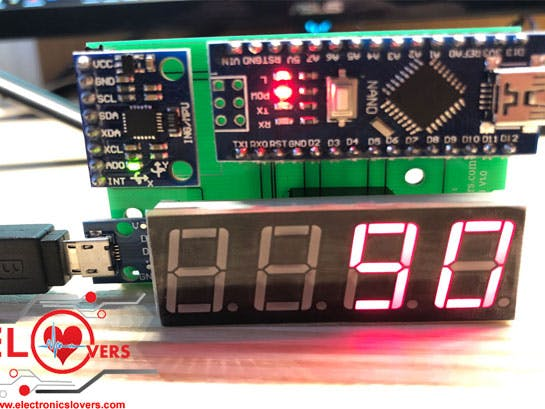 Digital Spirit Level DIY Project Module by Electronicslovers