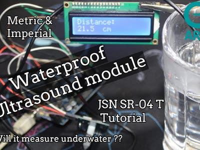 Measure Distance Using JSN SR-04T + LCD