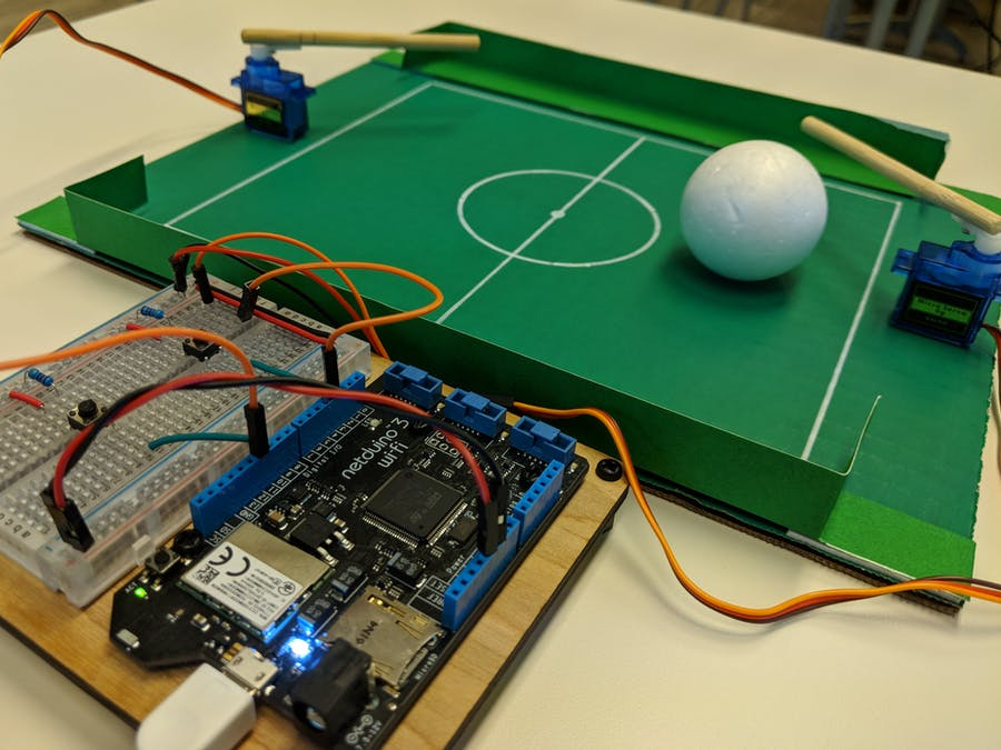 Play Soccer with Netduino Using Servos and Push Buttons