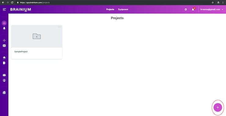 Create Project Page