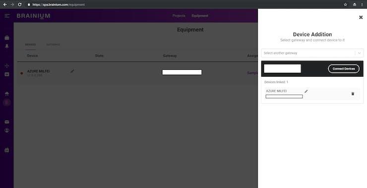 Associate Device Page