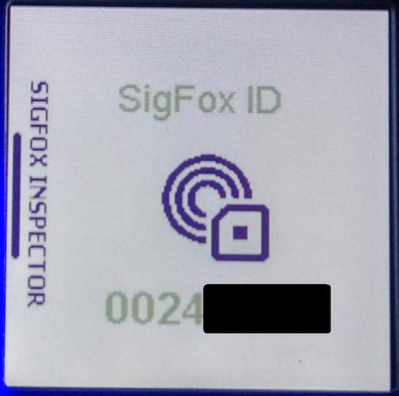 The desired result – SigFox ID