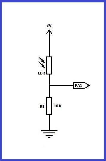 Diagram of light monitoring