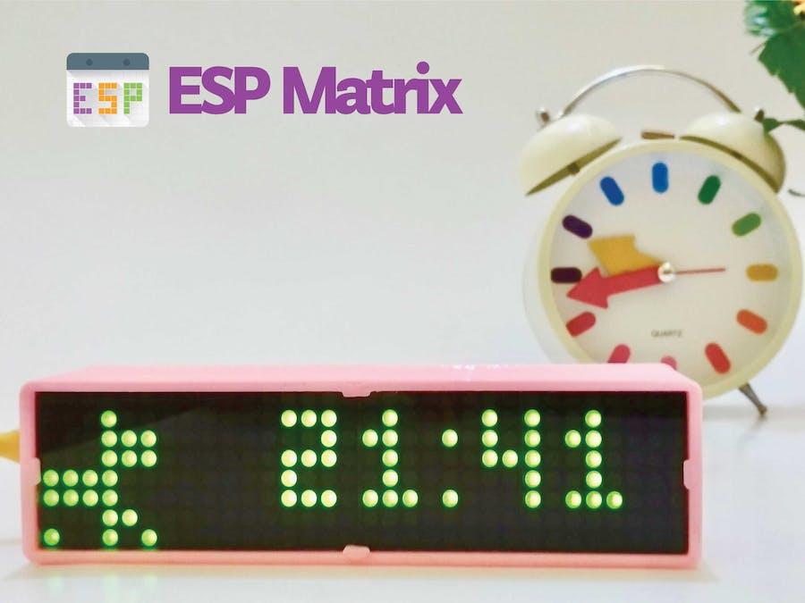 ESP Matrix - IoT Smart Clock Dot Matrix Use ESP8266